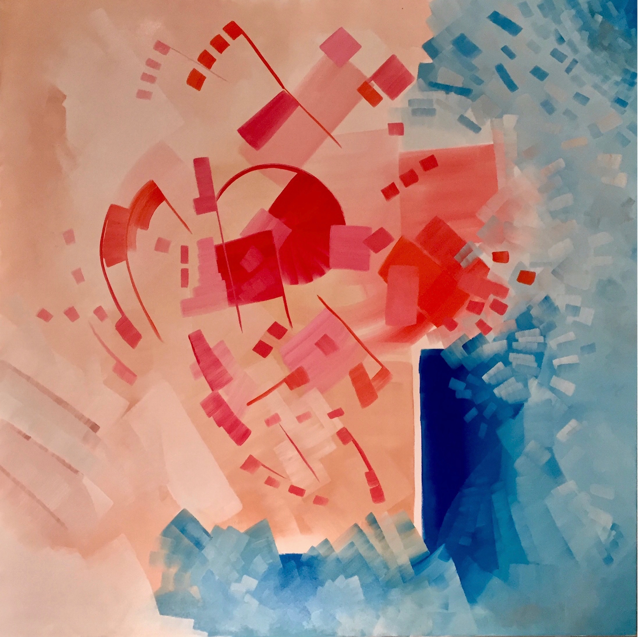 oil on canvas, 200 x 200 cm