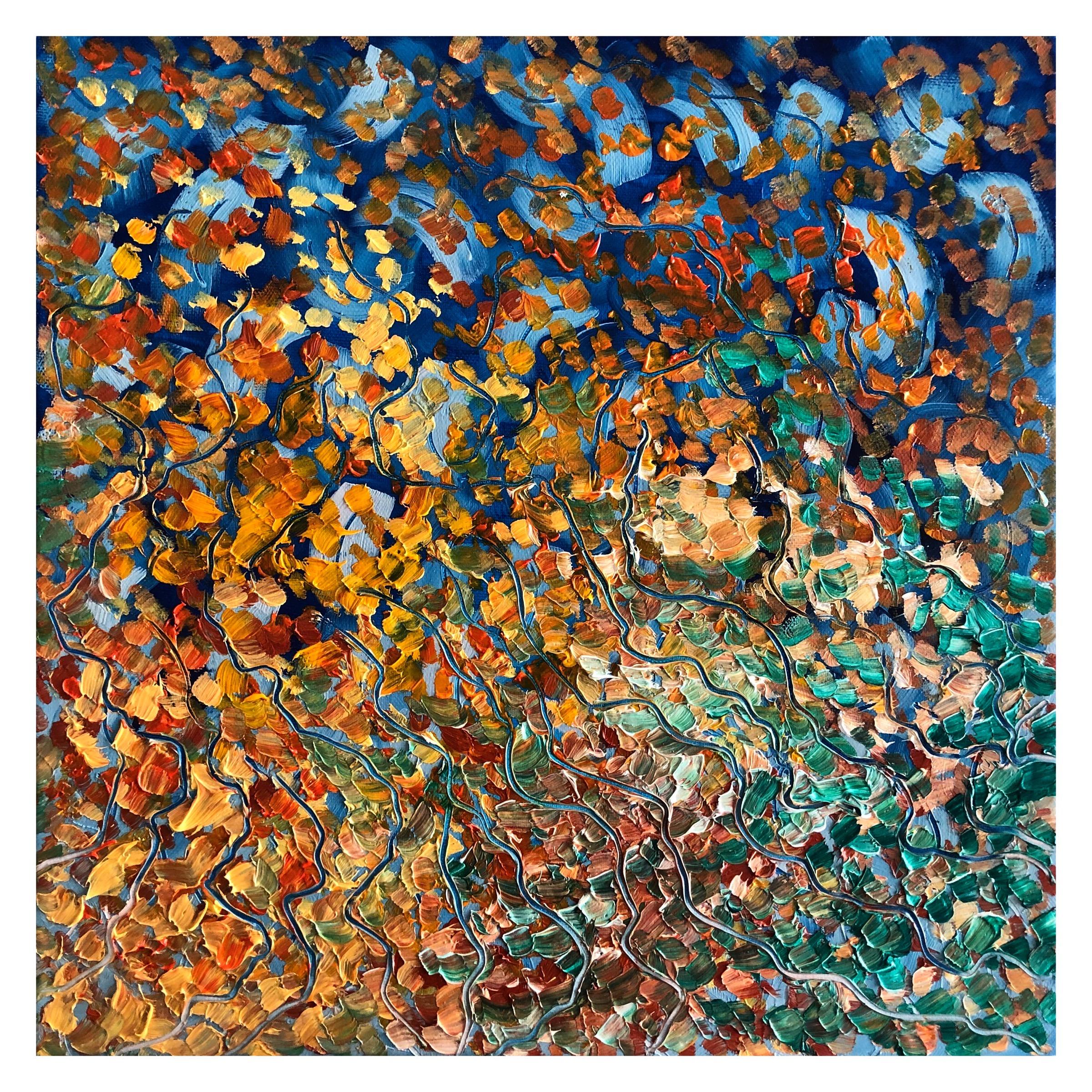 Autumn (2019), oil on canvas, 40 x 40 cm